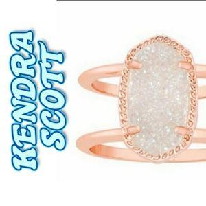 Kendra Scott rose gold elyse ring